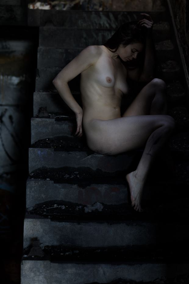 urbex artistic nude photo by photographer claude frenette