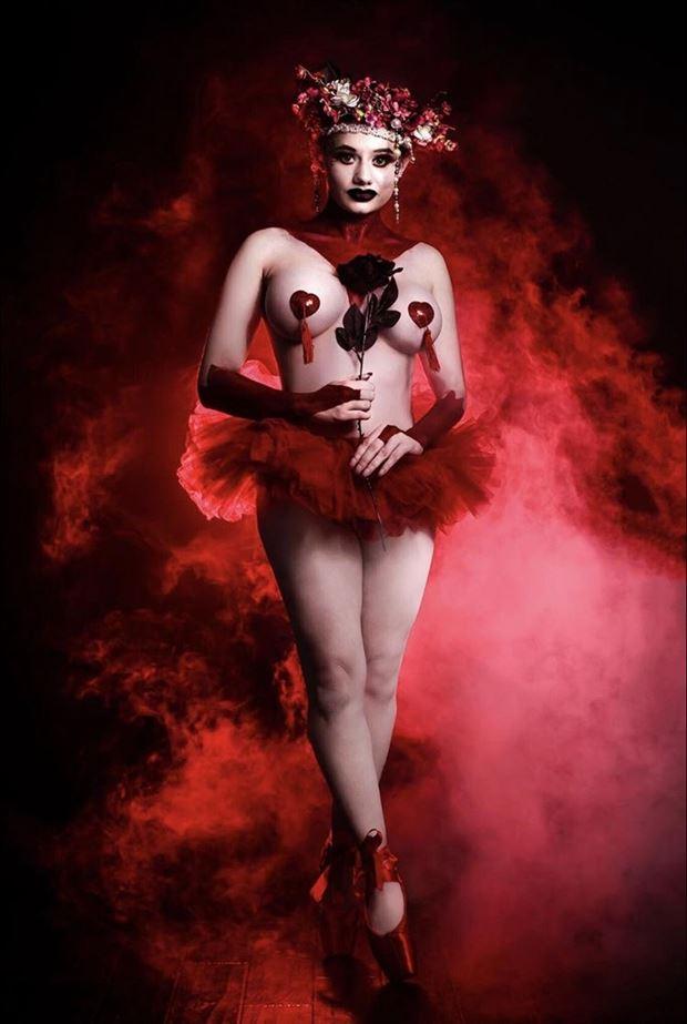valentines ballet shoot lingerie photo by model anastasia maye