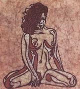 vaunt figure study artistic nude artwork by artist kevin houchin