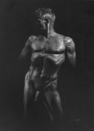 venus as a man artistic nude artwork by artist tai lin