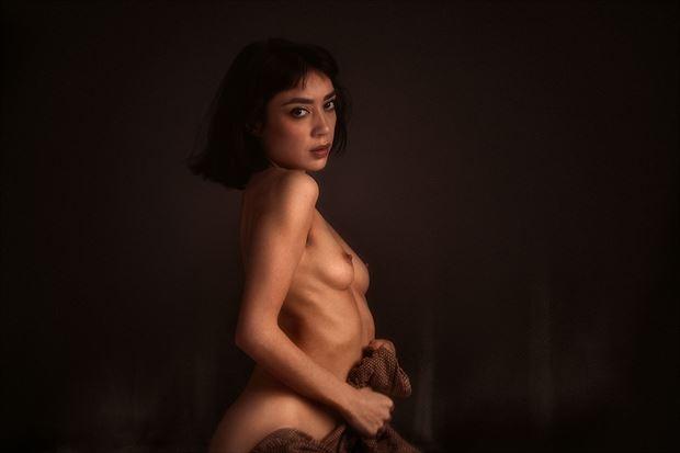 venus rises from the lava pit artistic nude photo by model rebeccatun