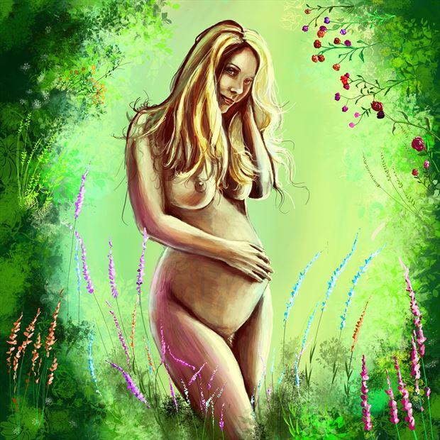 vessel 1 artistic nude artwork by artist nick kozis