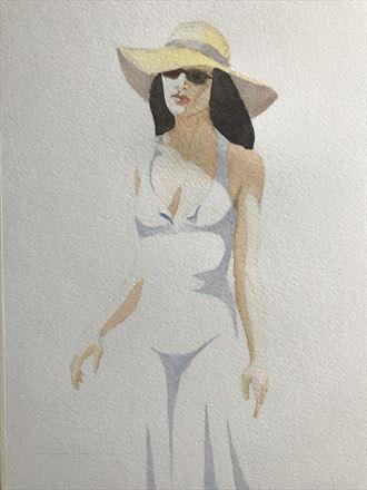 vintage style figure study artwork by artist rickgordon