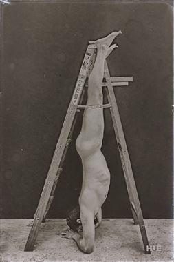 vintage style implied nude artwork by model j artsga