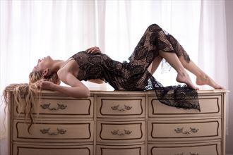 vintage style sensual photo by model aimee r shomo