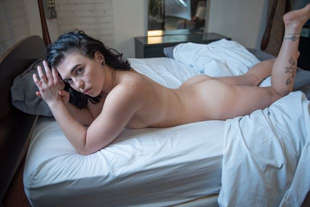 vintage style sensual photo by model megg bel