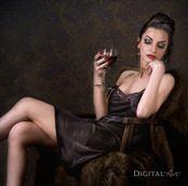 vintage style studio lighting photo by model fleursdumal