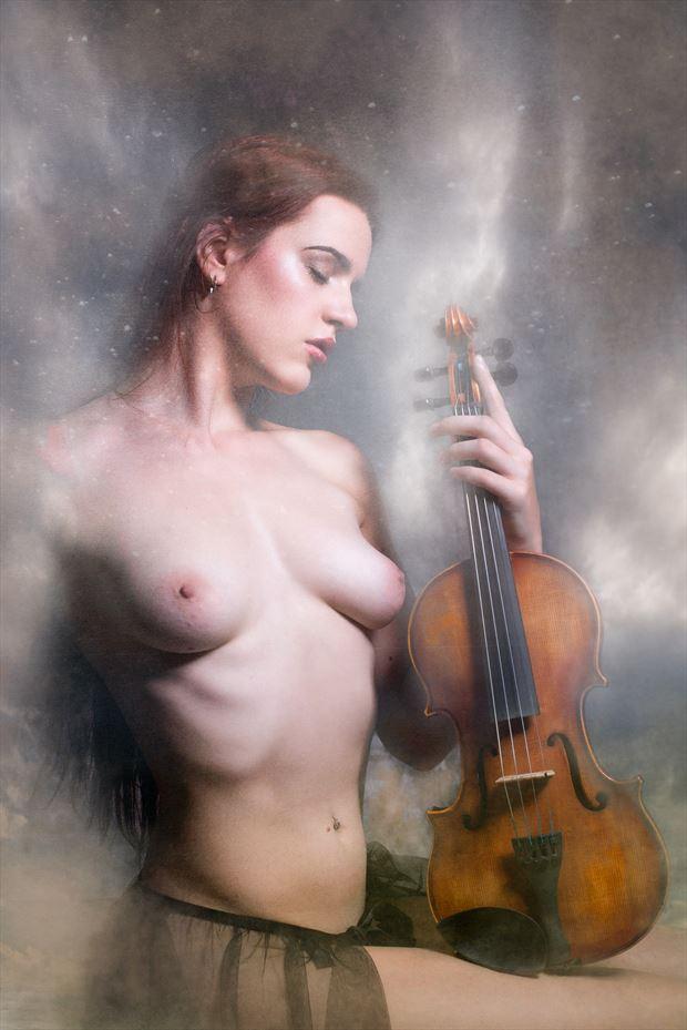 violin dreams artistic nude photo by photographer colin dixon