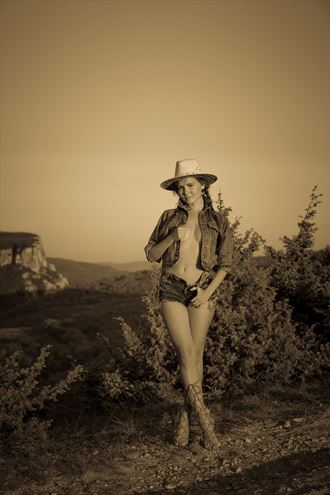 walking and dreaming surrounded by clouds and junipers erotic photo by photographer gino m%C3%BCnnich