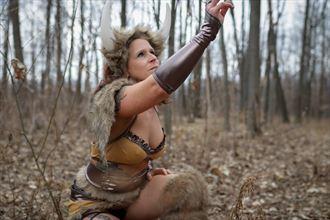 warrior cosplay artwork by model dianawonderwoman2019