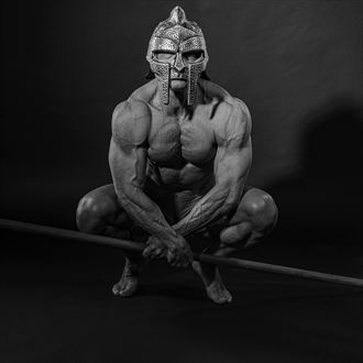 warrior ii artistic nude artwork by photographer photo kubitza