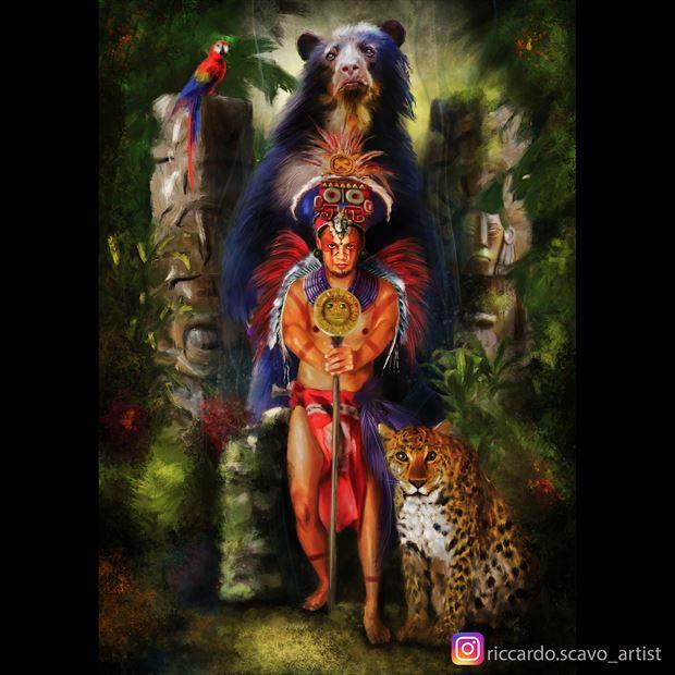 warrior surreal artwork by artist riccardo scavo