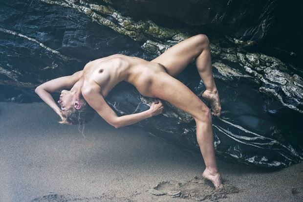 washed ashore artistic nude photo by model selkie