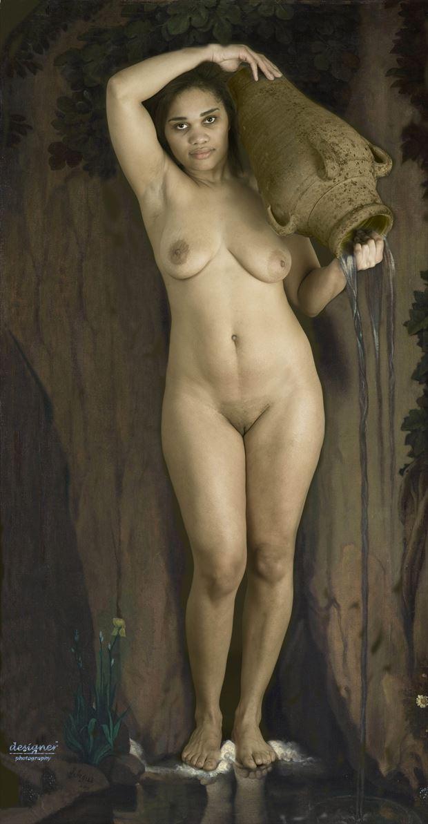 water bearer artistic nude artwork by photographer modelonaway