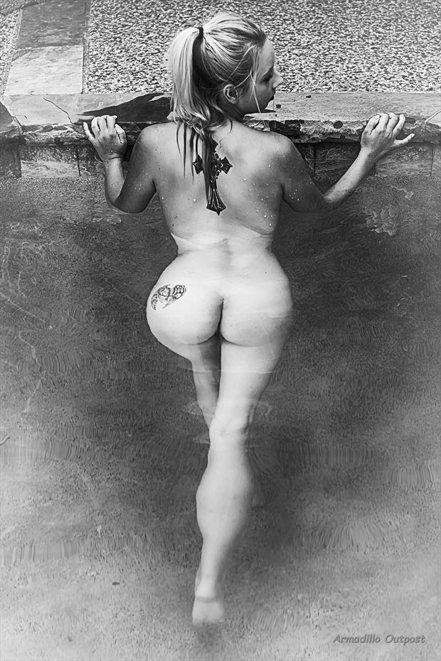 waterbound artistic nude artwork by model c a artwork