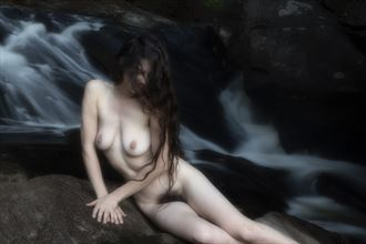 waterfall artistic nude photo by photographer autumnbearphoto