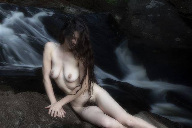 waterfall artistic nude photo by photographer autumnbearphoto