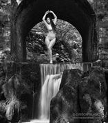 welsh waterfall artistic nude photo by photographer gibson