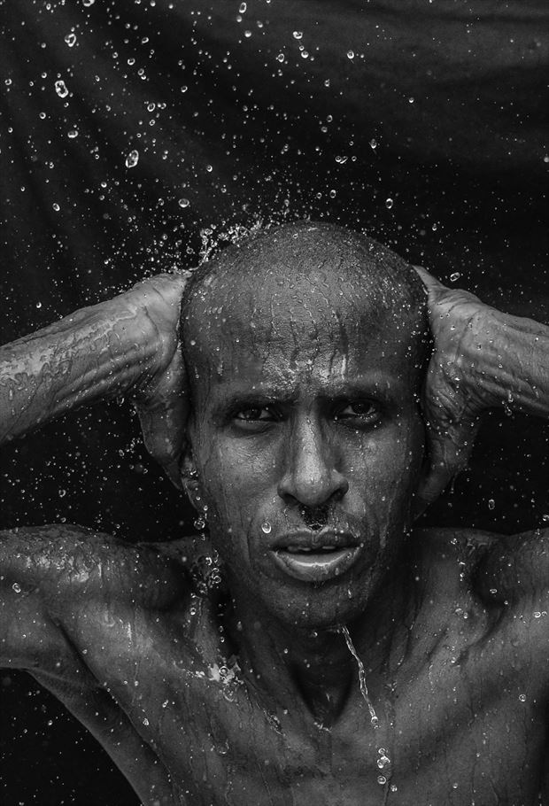 wet expression portrait photo by photographer mikey