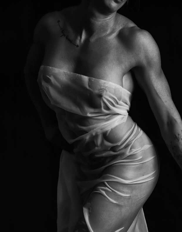 wet fabric implied nude photo by photographer bill milward