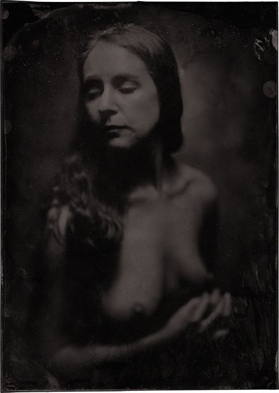 wetplate portrait artistic nude photo by model marzipanned