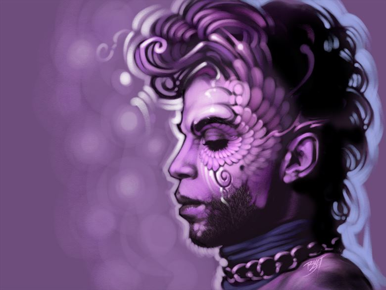 when doves cry digital artwork by artist david bollt
