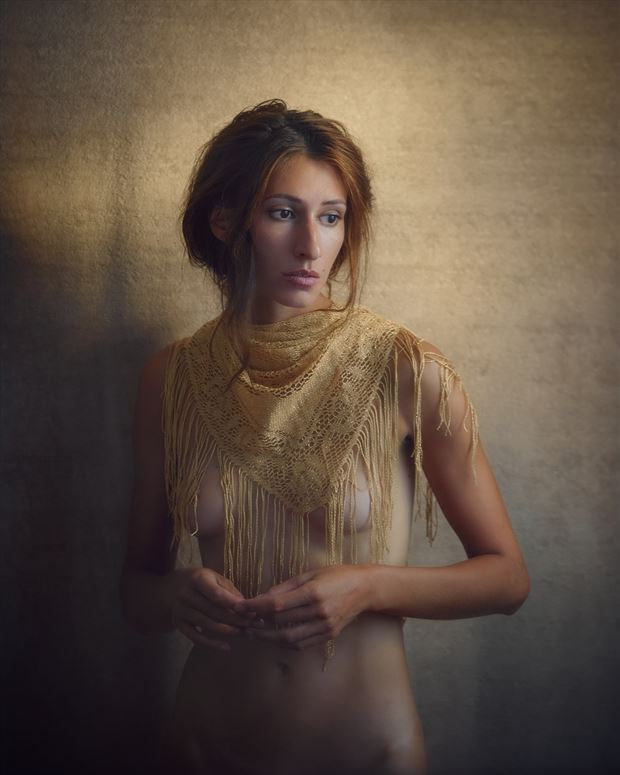 where we break is golden light w kate snig artistic nude photo by photographer robin burch