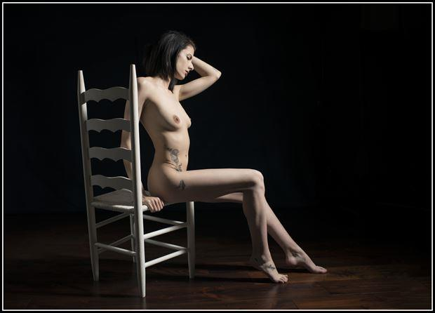 white chair artistic nude photo by photographer tommy 2 s