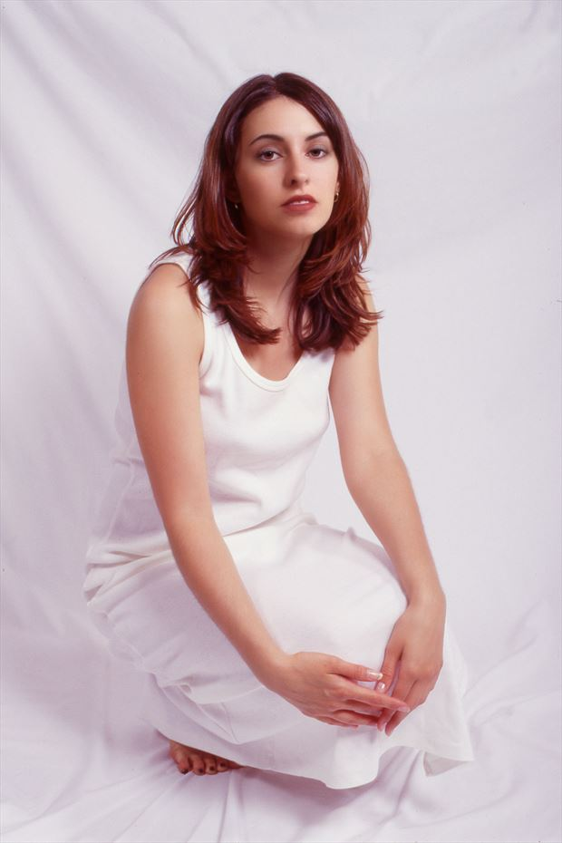 white dress white backdrop glamour photo by photographer glamour by richmond
