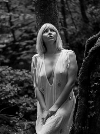white lady lingerie photo by model nika