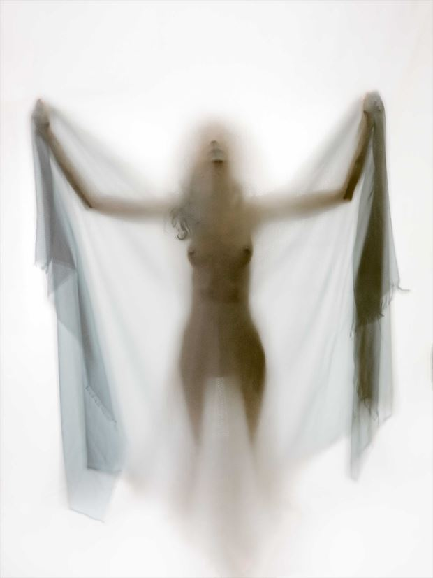 white moth artistic nude photo by photographer yevette hendler