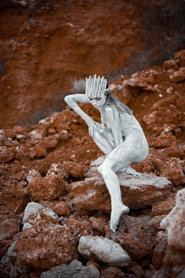 white queen artistic nude photo by photographer gabi gogiu