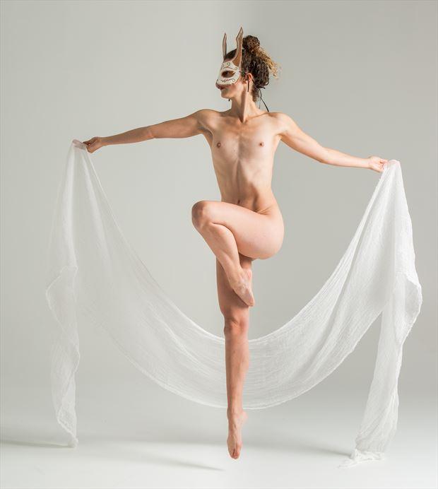 white rabbit artistic nude photo by photographer sceloporus