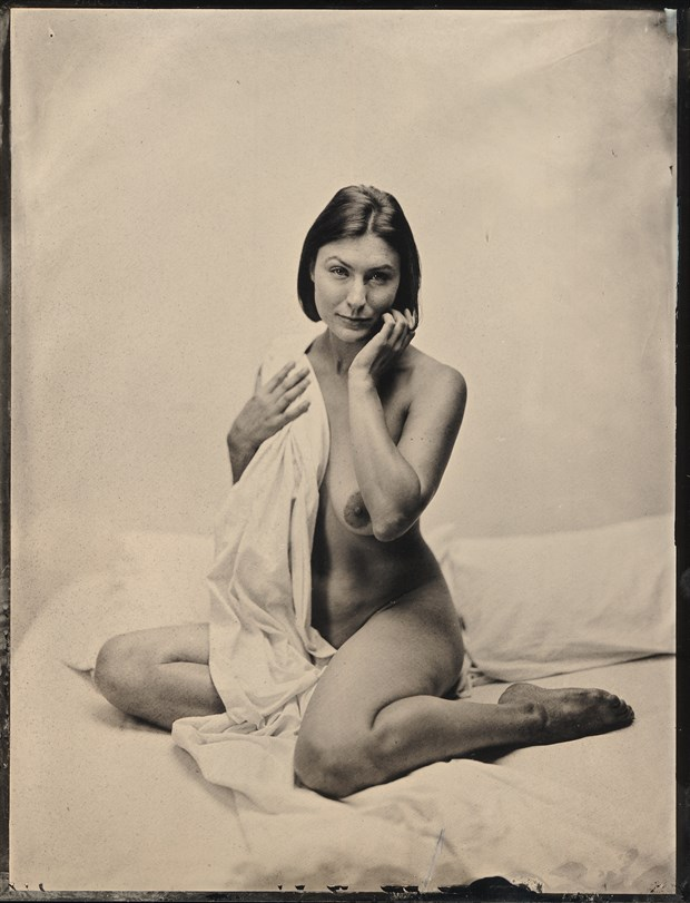 white sheet wet plate Artistic Nude Photo by Model erin elizabeth