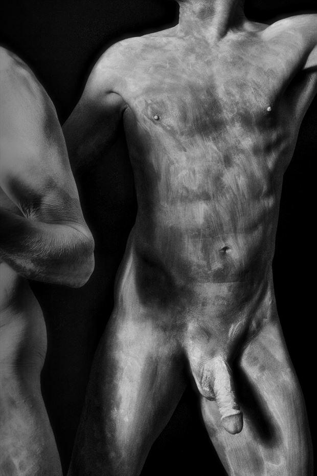 whitewash artistic nude photo by model avid light
