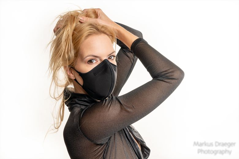 who says masks are not cool lingerie photo by photographer mdraeger