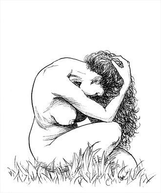 wildflower artistic nude artwork by artist subhankar biswas