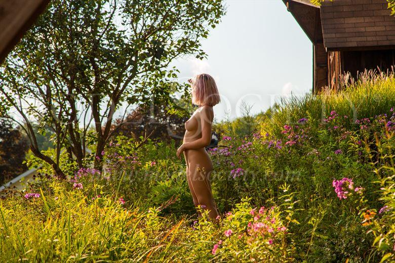 wildflower knoll artistic nude photo by photographer michael grace martin
