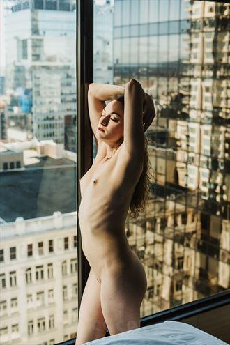 window light artistic nude photo by model fearra lacome
