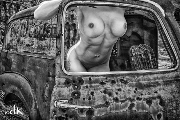 window pane artistic nude photo by photographer dennis keim