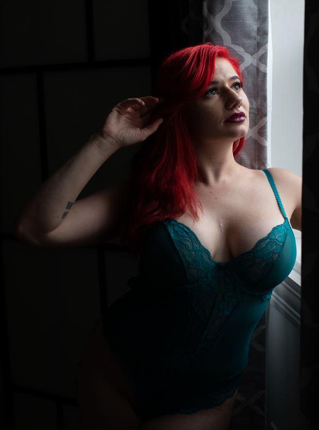 window portrait lingerie artwork by photographer gsphotoguy