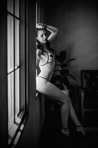 window seat lingerie photo by model talyawild