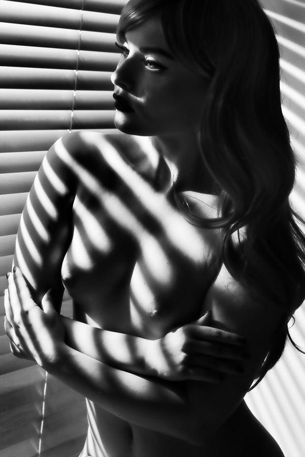 window stripes artistic nude photo by photographer colin dixon