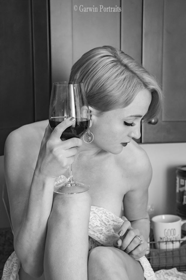 wine and lace sensual photo by model cali laine