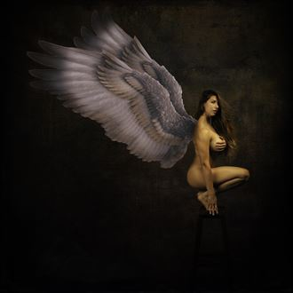 winged angel artistic nude photo by photographer doc list