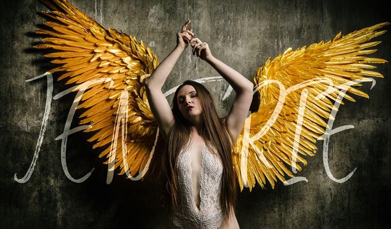 winged goddess lingerie photo by model jentriejane