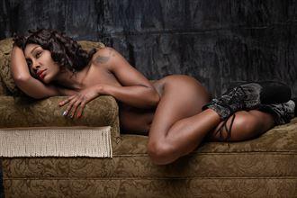 winter relaxation artistic nude artwork by model skinnythemodel
