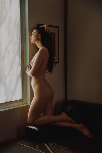 woman by the window artistic nude photo by photographer jonathan c