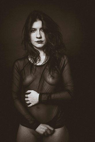 woman in black studio lighting photo by photographer gerdsteuer
