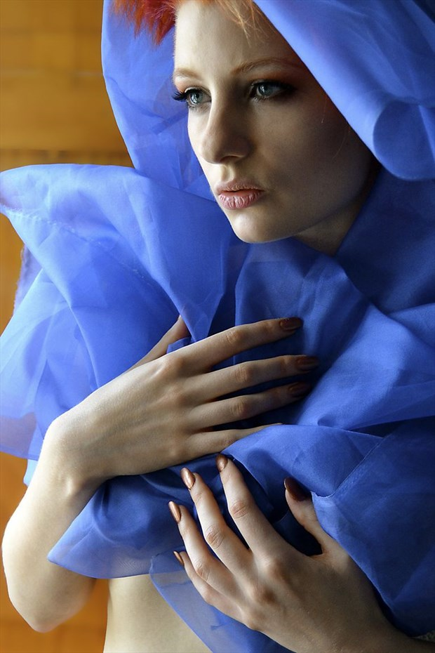 woman in blue Emotional Photo by Photographer JoseSFAndres